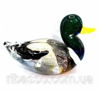 9190060 Утка цветное литое стекло №2