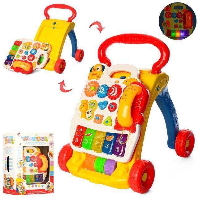 Каталка-ходунки для дитини від 9-ти місяців з яскравим ігровим центром SY81, зі звуковими й світловими ефектами