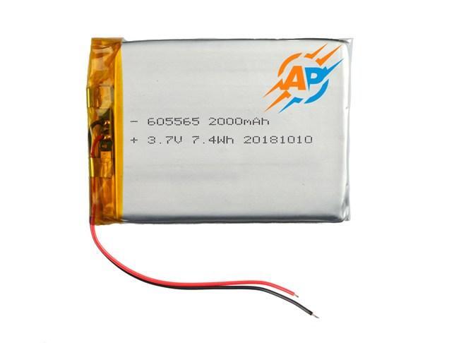 Аккумулятор 2000mAh 3.7v 605565 для навигаторов, ридеров, электронных книг, планшетов