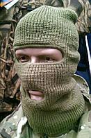 Балаклава зимняя (шапка-маска) вязанная REIS (хаки)