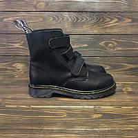 """Ботинки Dr. Martens Coralia Velcro """"Black"""" (реплика А+++ )"""