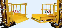 Строительный подъемник-подъёмники мачтовый секционный  г/п-1000 кг. с выкатным лотком. Высота подъёма, м 21, фото 2