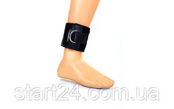 Манжет (ремень) для силовой тяги на голень и запястье AS3001 Ankle Strap (PVC, металл,р-р 36х10,5см), фото 3