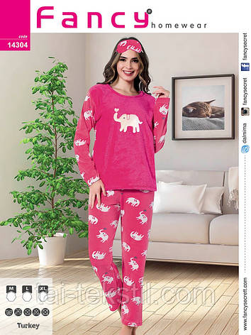 fb19091d59fce Пижама женская махра+флис и повязка для сна Турция 14304: продажа ...