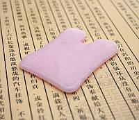 9020142 Массажер Гуа Ша розовый кварц Старинная монета
