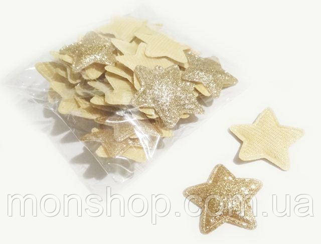 Патч звезда золото 3,0 см