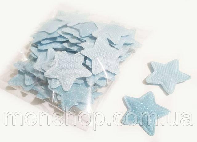 Патч звезда голубая 3,0 см
