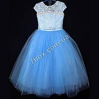 Детское нарядное платье бальное Бэль (голубое) Возраст 6-7 лет., фото 1