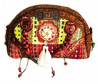 9040102 Сумка дамская кожа + текстиль + бусины №5