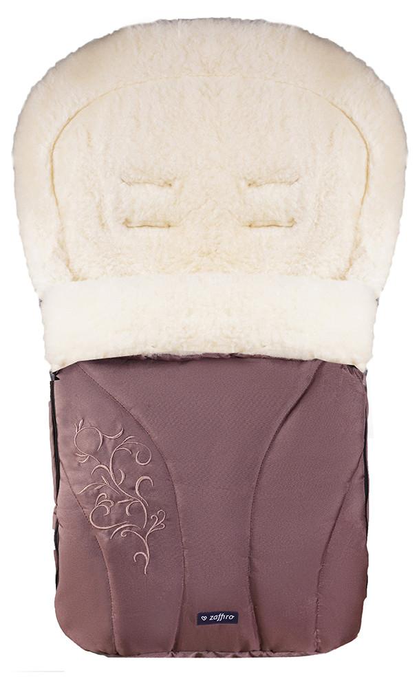 Зимний конверт Womar (Zaffiro) №25 с вышивкой  шоколад