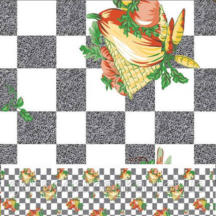 """Клеенка ПВХ в рулоне """"Клеточка"""" на нетканой основе 1.37*25м, фото 2"""
