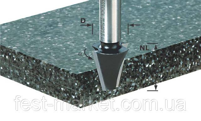 Фреза для снятия фаски с нижней режущей кромкой HW D23 /15°SS S12 Festool 492663