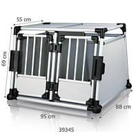 Trixie - 39345 Doppel-Transportbox Перевозка для собак алюминиевая на две двери