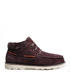 Оригинальные ботинки мужские UGG David Beckham Lace Brown - короткие угги, коричневые, Зима