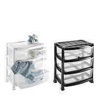 Комод пластиковый,73 л на 2 больших+2 маленьких ящика, Heidrun Professional 55*40*60,5 см (1527)