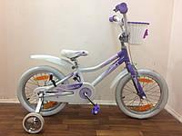 Велосипед Giant Puddn 16 бело-фиолетовый Рост ребенка 100-120 cm