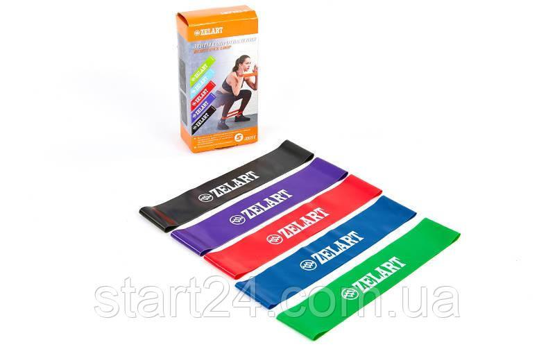 Набор резинок для фитнеса (лента сопротивления)  LOOP BANDS ZLT