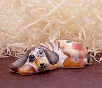 9380375 Фигурка керамическая Собака Лінивець (колір)