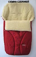 Спальный детский конвертик на овчине Womar Snowflake № 25 (zafiro) темно-красный