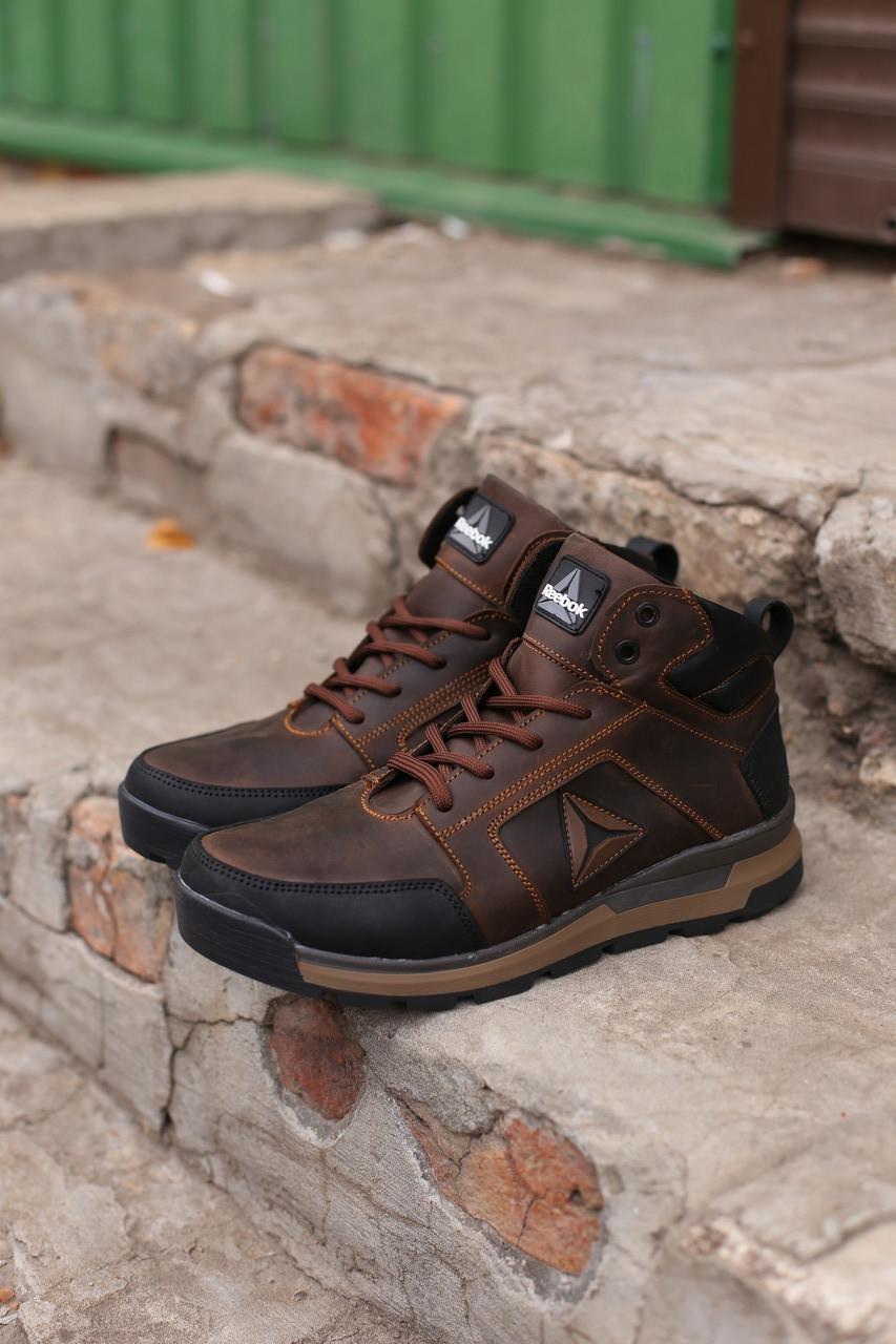 Мужские зимние кожаные ботинки/кроссовки Reebok.Купить в Украине!