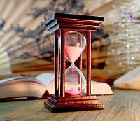 """9290025 Песочные часы """"Квадрат"""" 10 минут Розовый песок"""