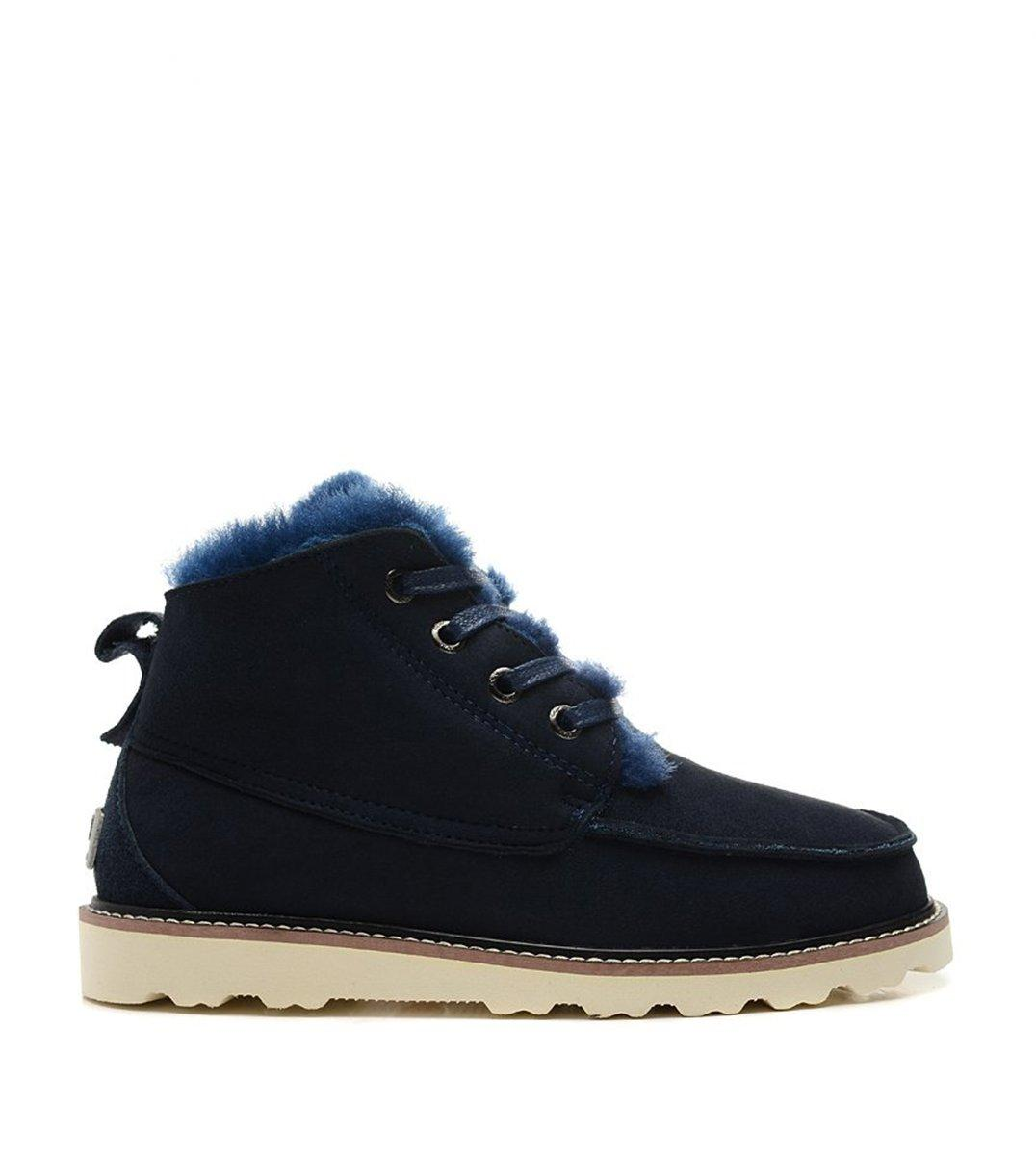 Ботинки мужские UGGs David Beckham Boots Dark Blue - короткие угги, синие, зима-весна