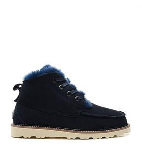 Ботинки мужские зима-весна синие David Beckham Boots Dark Blue