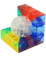 Кубик Рубика 3×3 MoYu Geo Cube B (Мою Гео Куб Б), прозорий, в блістері, фото 1