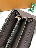 Брендовий чоловічий гаманець на блискавці Louis Vuitton коричневий Преміум Якість клатч Стильний Луї Віттон копія, фото 7