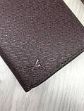 Брендовий чоловічий гаманець на блискавці Louis Vuitton коричневий Преміум Якість клатч Стильний Луї Віттон копія, фото 5