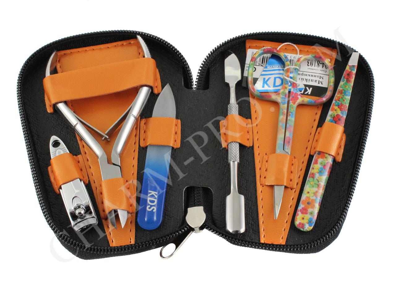 Набор инструментов для маникюра KDS 04-8103 (Оранжевый)