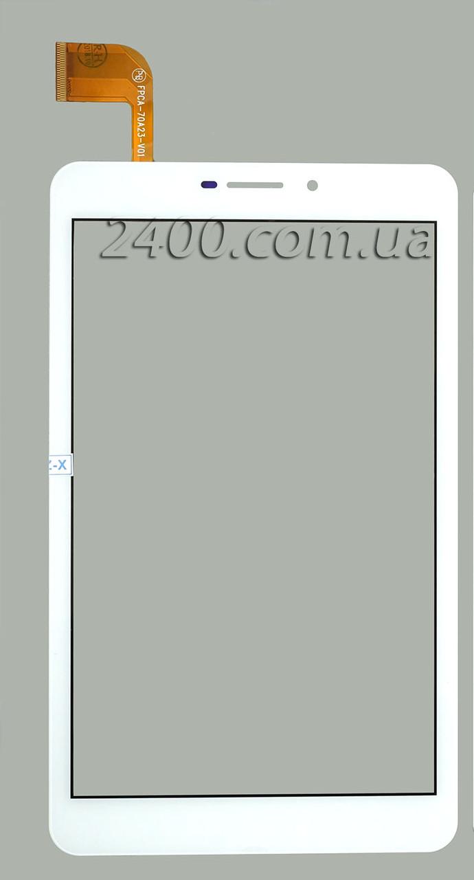 Сенсор, тачскрин для планшета Nomi C070020 Corsa Pro 3G (номи корса) белый 184*108 мм FPCA-70A23-V01