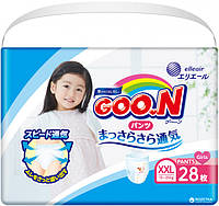 Трусики-подгузники GOO.N для девочек 13-25 кг (размер Big (XXL), 28 шт)