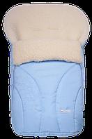 Спальный детский конвертик на овчине Snowflake  Womar № 25 (zafiro) светло-голубой