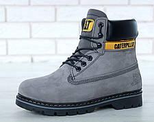 Жіночі черевики Caterpillar CAT Gray (З хутром) (Репліка ААА класу), фото 3