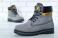 Жіночі черевики Caterpillar CAT Gray (З хутром) (Репліка ААА класу), фото 2