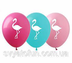 """Латексные воздушные шарики пастель """"Фламинго"""", (100 шт/уп), РН-27, ArtShow"""