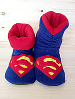 Тапочки-сапожки   для дома  Супермен