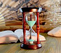 """9290065 Песочные часы """"Круг"""" 140 секунд Зелёный песок"""