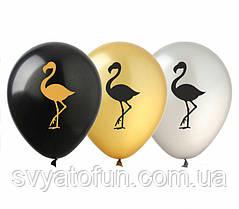 Латексные воздушные шарики металлик Фламинго 20шт/уп РН-27 ArtShow