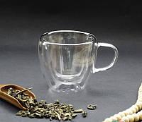 9200066 Чашка с ручкой двойное стекло 100мл.
