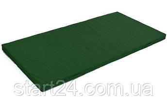Мат спортивный Тент 2x1м x 8см UR C-3543 ZEL (наполнитель-поролон,на молнии,зеленый,темно-синий), фото 3