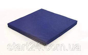 Мат спортивный Тент 1x1м x 8см UR C-3540 ZEL (наполнитель-поролон,на молнии, цвета в ассортименте), фото 3