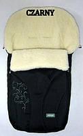 Спальный детский конвертик на овчине Snowflake Womar № 25 (zafiro) черный