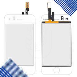 Тачскрин (сенсор) со стеклом для iPhone 3GS, цвет белый