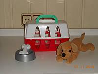 Собачка с ветеринарным детским набором  и переноской, фото 1
