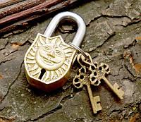 9070053 Замок навесной бронзовый Сурья