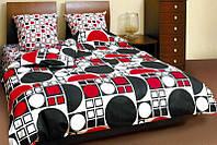 Постельное белье ТЕП Круг черно-красный двуспальное