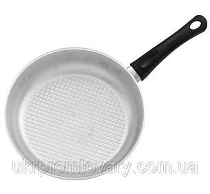 Сковорода Биол алюминиевая литая с рифленым дном и бакелитовой ручкой, алюминиевой крышкой А241, фото 2