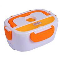 Ланч бокс с подогревом Lunch heater box 12v оранжевый